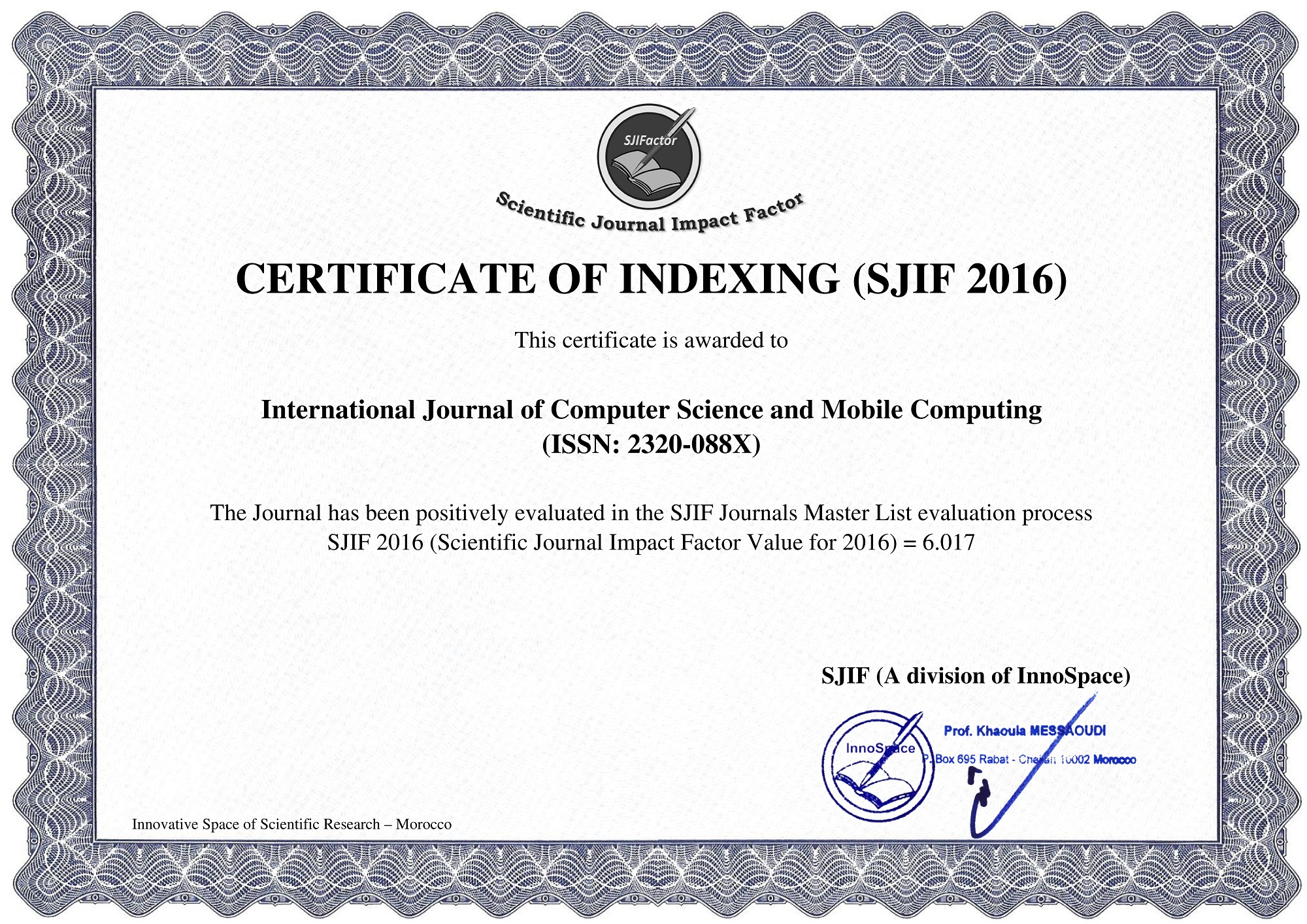 International Journal Of Computer Science And Mobile Computing Home
